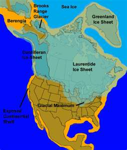 Ice map of North America